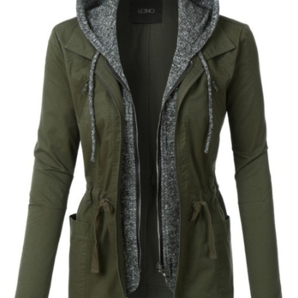 e49757e1f92 Military Anorak Jacket with Soft Hoodie Boutique